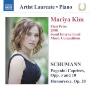 Mariya Kim: Schumann: Paganini Caprices, Opp. 3 & 10 - Humoreske - CD