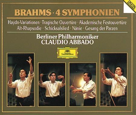 Berliner Philharmoniker, Claudio Abbado, Ernst-Senff-Chor, Marjana Lipovšek, Rundfunkchor Berlin: Brahms: 4 Symphonien - CD