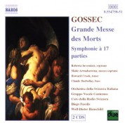 Gossec: Grande Messe Des Morts / Symphonie A 17 Parties - CD
