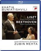 Khatia Buniatishvili, Zubin Mehta, Israel Philharmonic Orchestra: Lıszt: Piano Concerto No 2, Beethoven: Piano Concerto No: 1 - BluRay