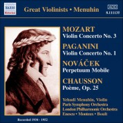 Yehudi Menuhin: Mozart: Violin Concerto No. 3 / Paganini: Violin Concerto No. 1 (Menuhin) (1934-1952) - CD