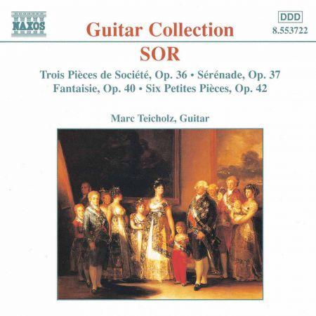 Marc Teicholz: Sor: 3 Pieces De Societe, Op. 36 / 6 Petites Pieces, Op. 42 - CD