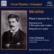 Brahms: Piano Concerto No. 1 (Schnabel) (1938) - CD