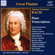 Bach, J.S.: Piano Transcriptions, Vol. 1 (Great Pianists) (1925-1947) - CD