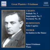 Friedman, Ignaz: Complete Recordings, Vol. 5: English Columbia Recordings (1933-1936) - CD