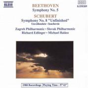 Zagreb Philharmonic Orchestra: Beethoven: Symphony No. 5 / Schubert: Symphony No. 8 - CD