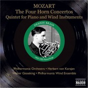 Dennis Brain: Mozart: Horn Concertos Nos. 1-4 / Piano and Wind Quintet (Brain, Karajan, Gieseking) (1953, 1955) - CD