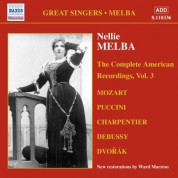 Nellie Melba: The Complete American Recordings, Vol. 3 - CD