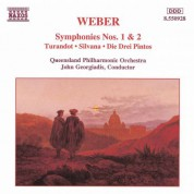 Weber: Symphonies Nos. 1 and 2 / Turandot Overture / Silvana - CD