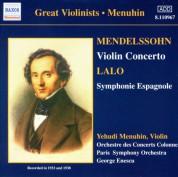 Yehudi Menuhin: Mendelssohn: Violin Concerto / Lalo: Symphonie Espagnole (Menuhin)  (1933, 1938) - CD