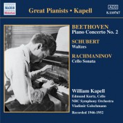 Beethoven: Piano Concerto No. 2 / Schubert: Waltzes and Dances (Kapell)(1946-1952) - CD