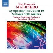 Antonio de Almeida: Malipiero: Symphonies Nos. 9 & 10 - CD