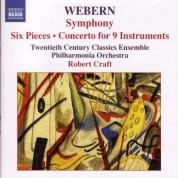 Robert Craft: Webern, A.: Symphony / 6 Pieces, Op. 6 / Concerto - CD