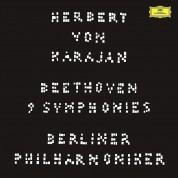 Berliner Philharmoniker, Walter Berry, Herbert von Karajan, Gundula Janowitz, Waldemar Kmentt, Hilde Rössel-Majdan, Wiener Singverein: Beethoven: 9 Symphonies - Karajan (1963) - Plak