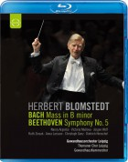 Herbert Blomstedt, Gewandhausorchester Leipzig: Bach: Mass in B Minor / Beethoven: Symphony No. 5 - BluRay