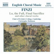 Finzi: Lo, the Full, Final Sacrifice / Magnificat / Unaccompanied Partsongs, Op. 17 - CD