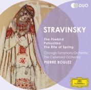 Chicago Symphony Orchestra, Pierre Boulez, The Cleveland Orchestra: Stravinsky: Firebird, Pétrouchka, Rite Of Spring - CD