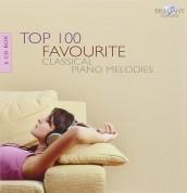 Çeşitli Sanatçılar: Top 100 Favourite Classical Piano Melodies - CD
