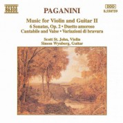Scott St. John: Paganini: Music for Violin and Guitar, Vol. 2 - CD