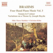 Christian Kohn, Silke-Thora Matthies: Brahms: Four-Hand Piano Music, Vol.  3 - CD