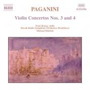 Erno Rozsa: Paganini: Violin Concertos Nos. 3 & 4 - CD