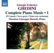 Massimo Giuseppe Bianchi: Ghedini: Complete Piano Music, Vol. 1 - CD