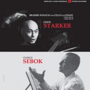 János Starker, György Sebök: Brahms: Sonatas for Cello and Piano Nos. 1 & 2 - Plak