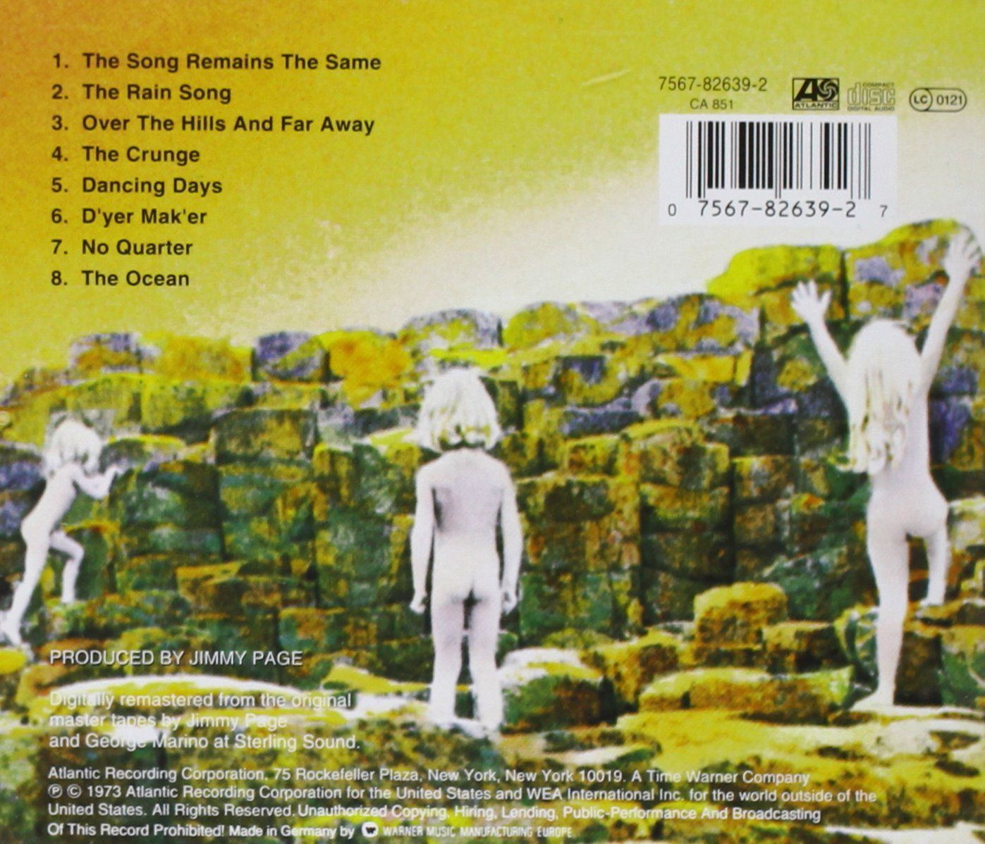 Led Zeppelin Houses Of The Holy Cd Opus3a