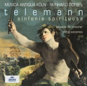 Jaap ter Linden, Musica Antiqua Köln, Reinhard Goebel: Telemann: Sinfonia Spirituosa - CD