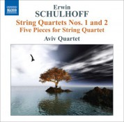 Aviv Quartet: Schulhoff: String Quartets Nos. 1 and 2 - 5 Pieces for String Quartet - CD