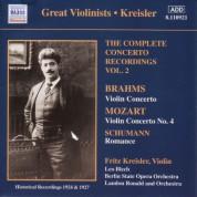 Fritz Kreisler: Mozart / Brahms: Violin Concertos, Vol. 2 (Kreisler) (1924, 1927) - CD