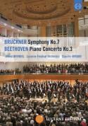 Alfred Brendel, Lucerne Festival Orchestra, Claudio Abbado: Beethoven: Piano Concerto No. 3 / Bruckner: Symphony No. 7 - DVD