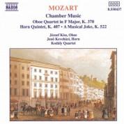 Mozart: Oboe Quartet, K. 370 / Horn Quintet, K. 407 / A Musical Joke, K. 522 - CD
