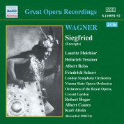 Wagner, R.: Siegfried (Ring Cycle 3) (Excerpts) (Melchior, Tessmer) (1929-1932) - CD
