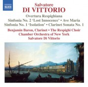 Salvatore Di Vittorio: Di Vittorio: Sinfonias Nos. 1 and 2 - CD