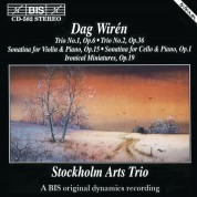 Stockholm Arts Trio, Torleif Thedéen: Dag Wirén: Chamber Music, Vol 1 - CD