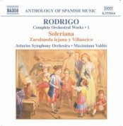 Rodrigo: Soleriana / Zarabanda Lejana Y Villancico (Complete Orchestral Works, Vol. 1) - CD