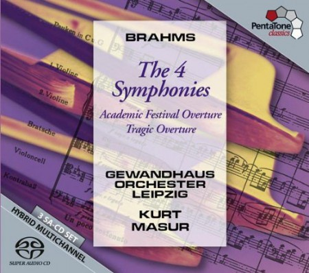 Kurt Masur, Gewandhausorchester Leipzig: Brahms: Symphony No 1-4 - SACD