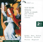 James Bowman, Emma Kirkby, Catherine Bott, Judith Nelson, Carolyn Watkinson, Simon Preston, Christopher Hogwood, Philip Pickett: Vivaldi: Gloria, Rv 589 - CD