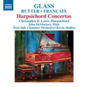 Christopher D. Lewis: Glass - Rutter - Francaix: Harpsichord Concertos - CD