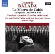 Robert Page: Balada, L.: Muerte De Colon (La) (Death of Columbus) [Opera] - CD