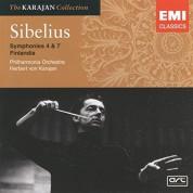 Philharmonia Orchestra, Herbert von Karajan: Sibelius: Symphonies No. 4 & 7 - CD