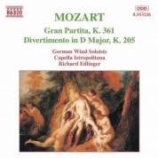 Mozart: Gran Partita / Divertimento, K. 205 - CD