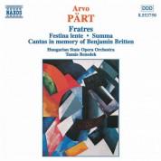 Part: Fratres / Festina Lente / Summa - CD