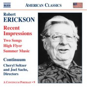 Continuum: Erickson: Orchestral, Chamber and Vocal Music - CD