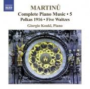Giorgio Koukl: Martinu, B.: Complete Piano Music, Vol. 5 - CD
