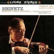 Jascha Heifetz, Chicago Symphony Orchestra, Walter Hendl: Sibelius: Violin Concerto (200g-edition) - Plak