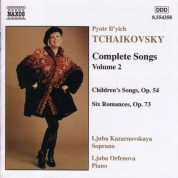 Tchaikovsky: Songs (Complete), Vol.  2 - CD