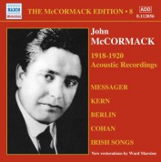 John McCormack: The McCormack Edition, Vol. 8: The Acoustic Recordings, 1918-1920 - CD
