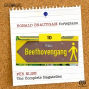 Ronald Brautigam: Beethoven: Complete Works for Solo Piano, Vol. 10 on forte-piano - SACD